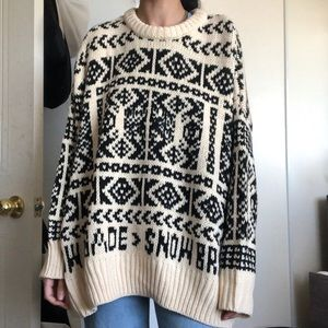 Zara Snow Brigade Knit Sweater